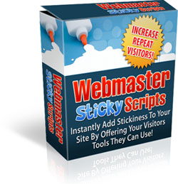Webmaster Sticky Scripts Package