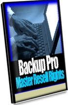 Backup Pro with 100% Master Resell rights
